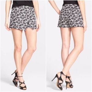 Michael Kors Palm Print Wrap Front Mini Skort